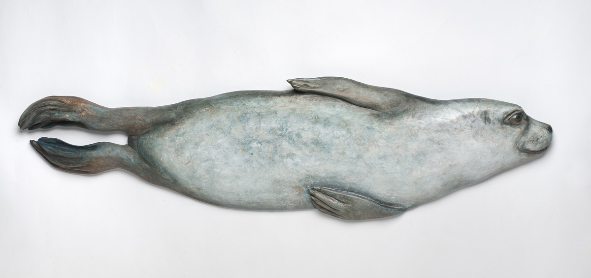 Rebekah Raye-Harbor Seal Swimming maple 1'X4'.jpg
