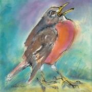 """Rebekah Raye-Spring Song-ink watercolor-18""""X18"""".jpg"""