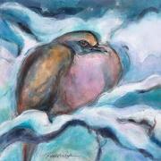 """Rebekah Raye-Waiting for Spring-ink watercolor-18""""X18"""".jpg"""